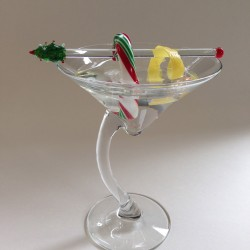 Peppermint martini garnish