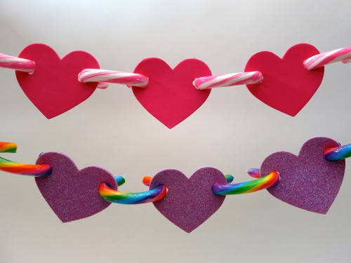 Multi-color Valentine garland